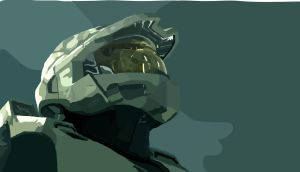 Master Chief Vector Potrait by TheArgoNinja