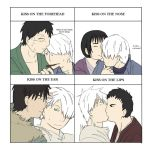 Let's Kiss Ginko: an art meme by minako134