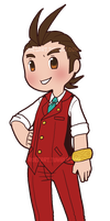 Chibi Apollo Justice Cutie Attorney by roseannepage
