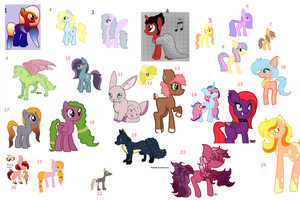 Free Adoptables (Closed) by Spotted-Puppy