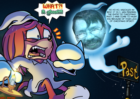 KNUCKLES and da Ghost of Christmas Past! by WaniRamirez