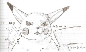Mean Pikachu by Baby-Cougar