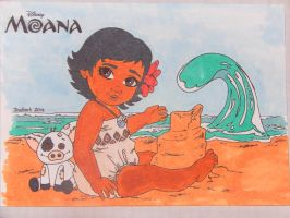 Baby Moana by Mr-Pink-Rose
