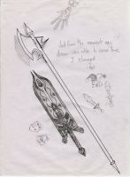 Kat's Halberd and the Chronos Blade of Knowledge by Tingcat