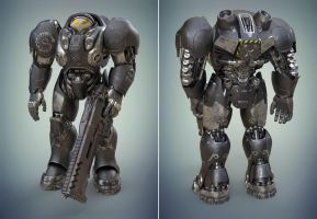Space marine from StarCraft by MixJoe