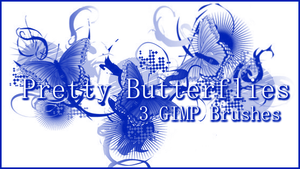 GIMP Pretty Butterflies by Illyera