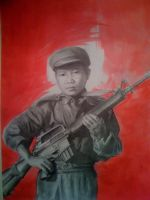 Child soldier by EshiraArt