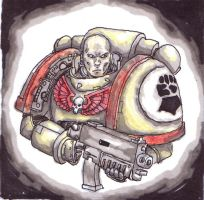 Imperial Fists Space Marine by cyphercodicer2