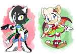 CLOSED Paypal Adoptables - Cat and Fruit Bat by Togekisser