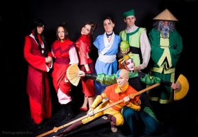 Group Avatar cosplay by FDteam