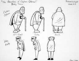 Captain Oldman and Rusty Ready - Body Turns by ArtmasterRich