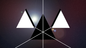 Space Triangles with Color by PlanetaryPenguin