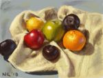 Fruit on a Tea Towel by napalmnacey