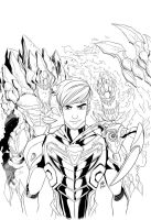 Max Steel vol.3 cover ink by ultrachicken