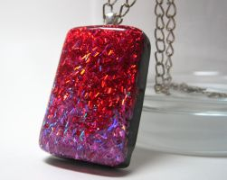 Red+Purple Swirl Pendant by ExperienceDesigns