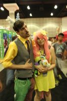 discord and fluttershy - anime expo 2015 by antshadow13