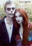 Jack and Sally Necklace Set by Ideationox
