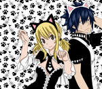 Gray and Lucy: Nya time! by xTakado