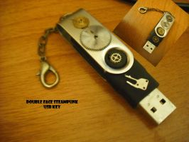 Steampunk USB KEY by Rouages-et-Creations