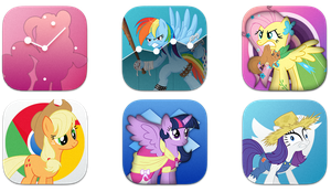 mane 6 IOS 7 icons preview by shaynelleLPS