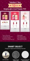 Valentines Day Shopping Offers E-Newsletter PSD by premiumjungle