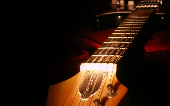 Guitar and Light by megal0mania