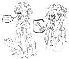 Rakel as a Hyena by Cashda