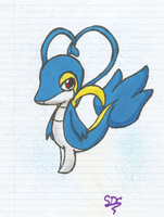 Shiny shiny Snivy by Artistonfire