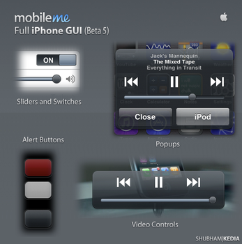 MobileMe Full iPhone GUI by kediashubham
