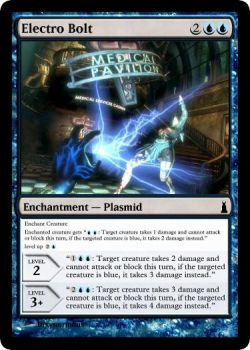 Electro Bolt Plasmid MTG card by dixyn0rmous