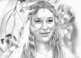 Older Drawing of Galadriel by khinson