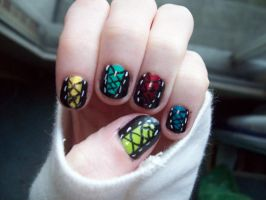 Corset Nails by ffishy21
