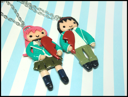 Moka + Gin BFF Necklaces by GrandmaThunderpants
