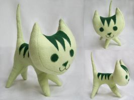 Green Pointy Kitty by johannachambers