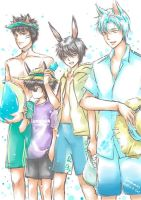 Summer Rabbit Cat - HASE 2014 by hase-illustration