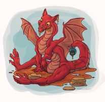 Pancake Dragon by AriellaMay