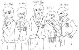 Boys Over Flowers lineart :D by Tammyyy