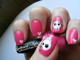 Bowed Skulls and Hearts by Animalluver1985