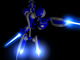 3d Modeling Practice - Robot by miracle-gamer