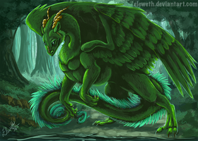 Speedpaint: Forest whelp by Eleweth