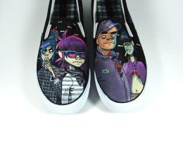 Gorillaz , custom shoes by Annatarhouse