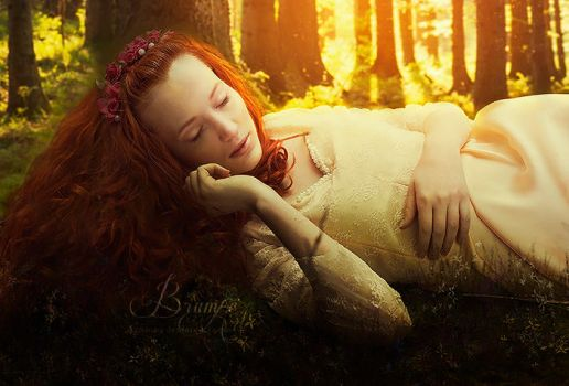 Sleeping in the forest by Brumae-Art