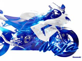 Kawasaki Ninja Blue by djog