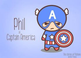 Phil as Captain America by patione