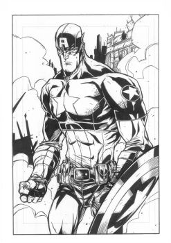 Captain America by JonnydelaFuente