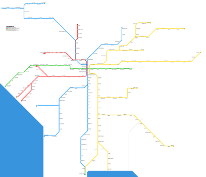 Los Angeles Subway System by TheAresProject