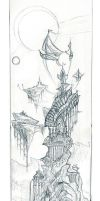 Cityscape revisted in pencil by balaa
