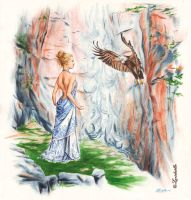 Psyche and Eagle by Lucidaelle