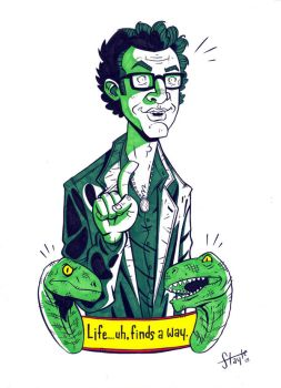 Dr. Ian Malcom. by stayte-of-the-art