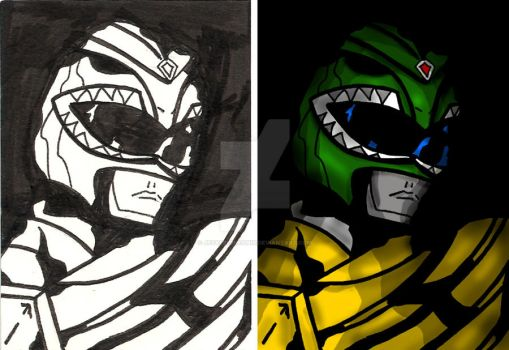 Green Ranger In The Shadows by JezabelPheonix